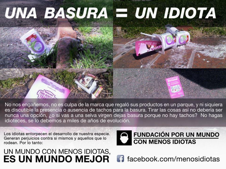 BA 154 - TIRAR BASURA - SOS UN IDIOTA